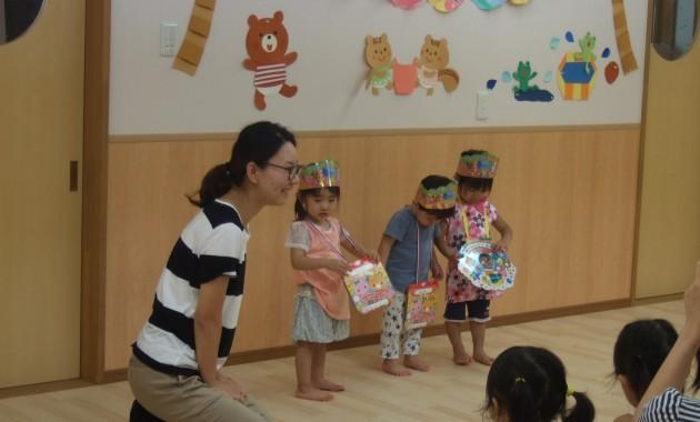 乳児部さんの8月お誕生会