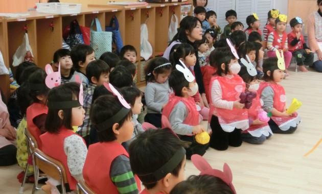 第2幼稚園幼児部さんが、乳児部さんに行きました。