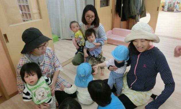 乳児部さんの避難訓練と給食