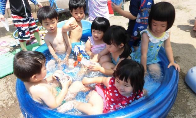 第1園プール遊び、水遊びなど