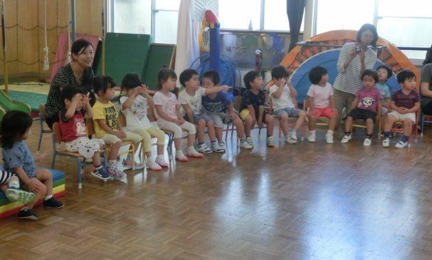 第2幼稚園の創立記念礼拝のようす