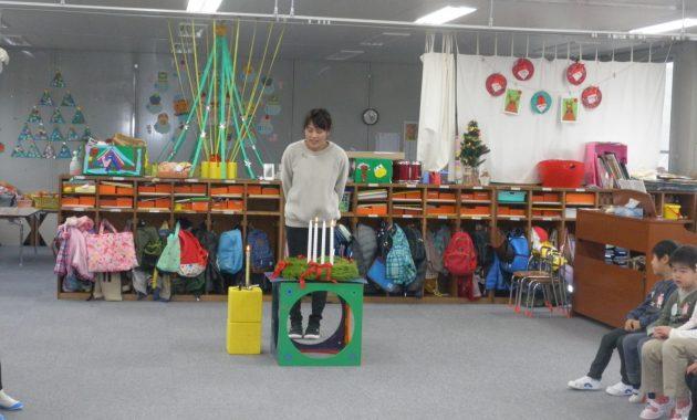 第1園の仮園舎でのクリスマスを迎える準備