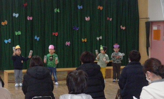 第2幼稚園のミニコンサートのようす